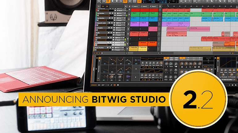 Bitwig Studio 2.2 is out now
