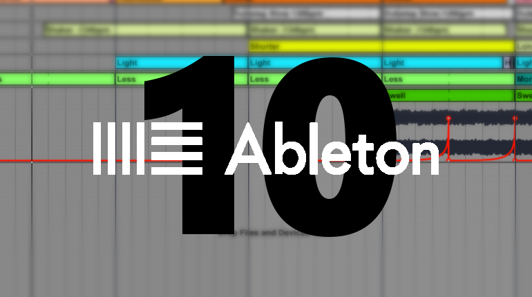 When is the release date of Ableton 10?